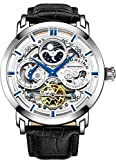 Stuhrling Original 371.01 Men's Legacy Automatic Self Wind Genuine Leather Strap Watch Black